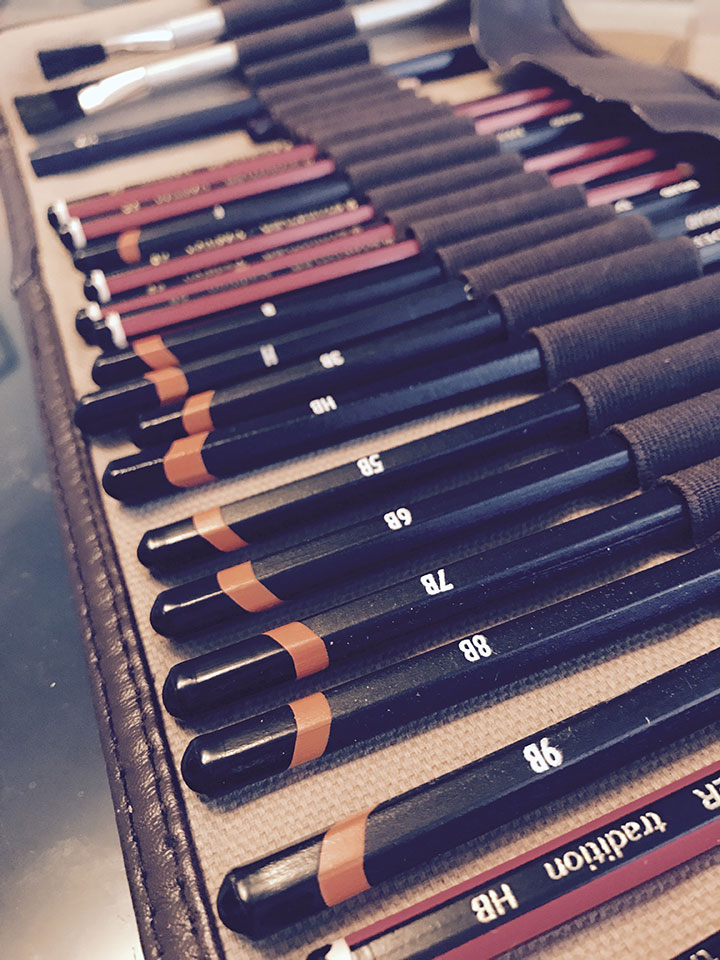 pencils to draw with