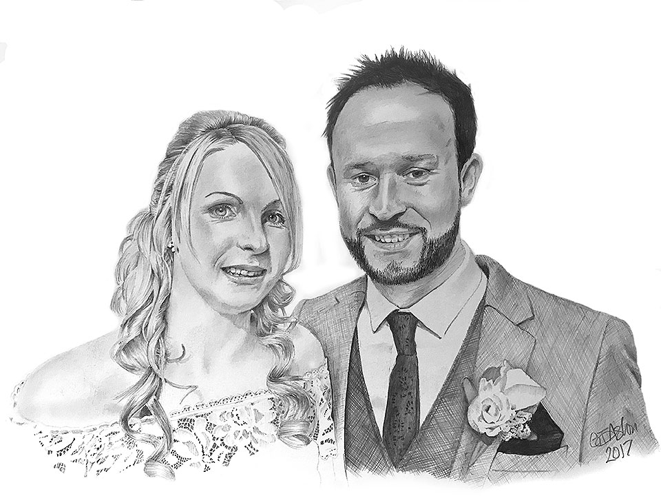 wedding present drawing - Clare and Mike